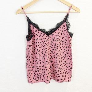 H&M pink cheetah print tank